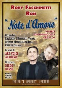 Concerto di Ferrara - Note Amore - Manifesto 70x100